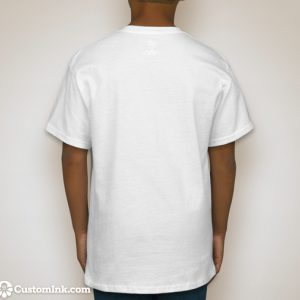 back of t-shirt (plain white)