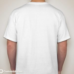 plain back of t-shirt