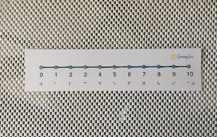 braille number line on gripper mat table