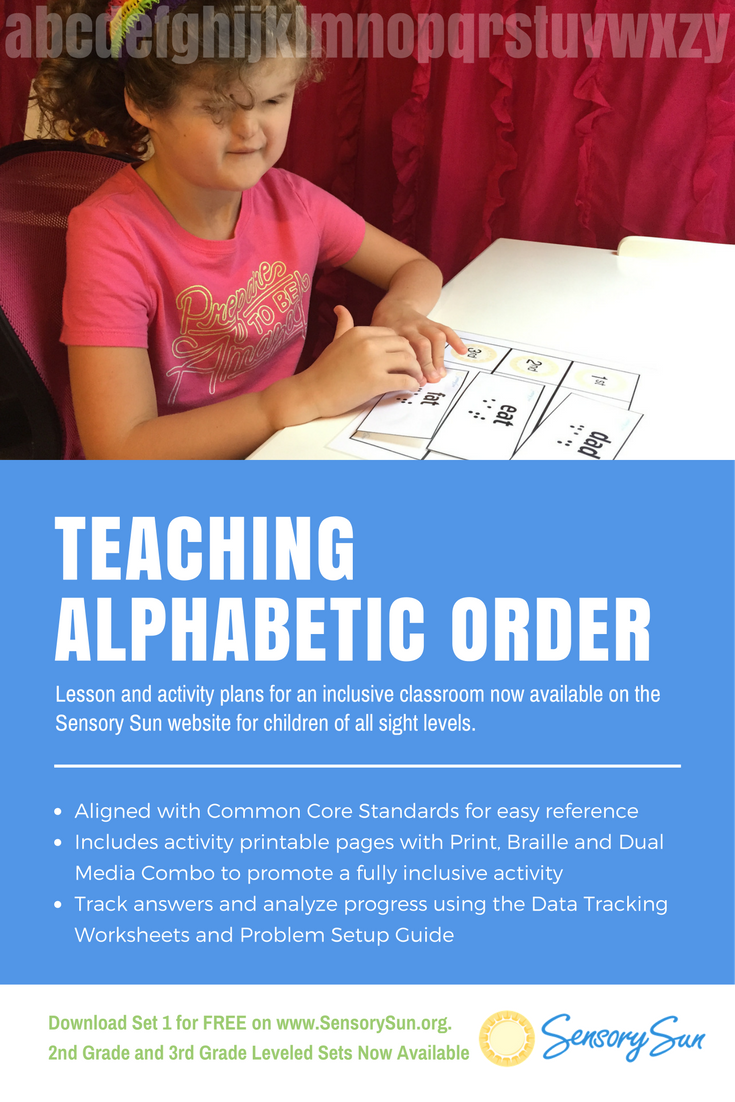 Teach ABC Order Lesson Plan for Kids Who Are Blind