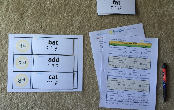 Papers on Floor for Teach ABC Order