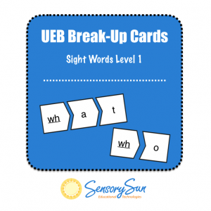 UEB Sight Words Breakup Cards