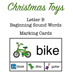 Christmas Toys Letter B Sounds Cover