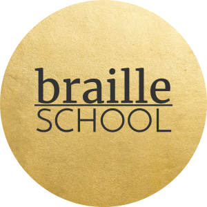 braille school gold logo