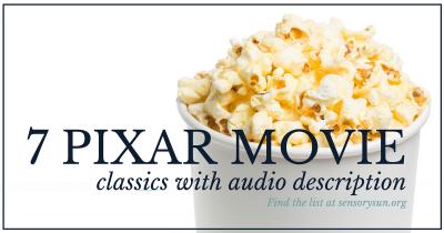 7 pixar movie classics with audio description